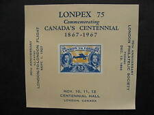CANADA LONPEX 75 souvenir sheet MNH, well worth checking it out!