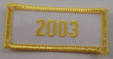 Girl Scout Gs Vintage Uniform Patch 2003 White And Yellow Year Bar #Gsyl