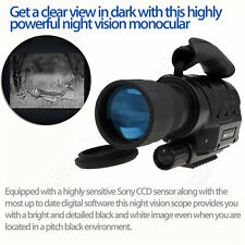 Infrared Dark Night Vision 6X50 IR Monocular Telescope Scope Hunting DVR Recorde