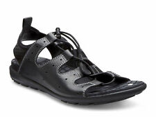 ECCO Womens Jab Sandal Black Leather 238013 51707 Shoes Size US 8-8.5 EU 39