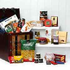 Large Wooden Captains Chest Birthday Hamper | Luxury Food Gift | 30 Food Items
