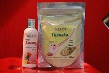 100 gm Pure Herbal Thanaka Powder Burmese  & 100 ml Kusumba Oil for hair removal