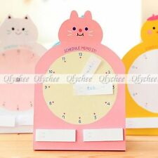 1 Pc Cute Clock Schedule Sticker Bookmark Marker Flags Index Sticky Notes Random