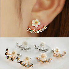 Small Daisy Flower Earring - Ear Jacket - 1 Pair