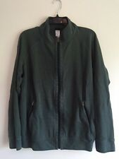 MEN'S PATAGONIA CARDIGAN SIZE L ARMY GREEN WITH ZIP FRONT & ZIP POCKETS SWEATER