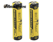 2X SKYRAY 600mAh 10440 3.7V 10440 Rechargeable Lithium Battery Cell for SureFire