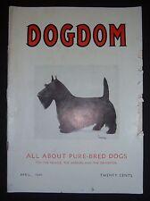 Vintage DOGDOM magazine April 1941, Bechmann, Battle Creek, MI. Scottish Terrier