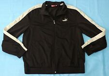 Puma Brown Track Jacket Size Large Zippered Athletic Coat Lightweight