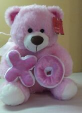 "Pink Large 17"" Teddy Bear XO Love stuffed toy animal Valentine's Day Gift NWT"