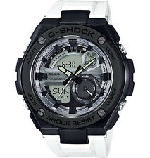 Casio G-Shock G-Steel 2nd Gen 3D SS IP Bezel  White/Blk Watch GST210B-7A