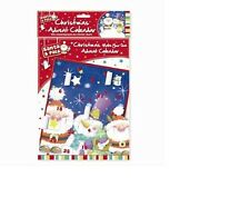 MAKE YOUR OWN CHRISTMAS ADVENT CALENDAR KIDS CRAFT FUN GIFT COLOURING STICKERS