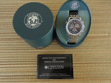 CITIZEN WR100 ECO-DRIVE GMT CHRONO CHRONOGRAPH DEPLOYMENT BRACELET WATCH BOX SET