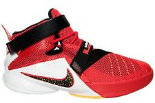 NEW NIKE LEBRON SOLDIER IX 9 GS sz 7Y RED WHITE BLACK Basketball Shoes Sneakers
