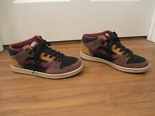 Used Worn Size 11 Vans TNT II Mid Cup Skateboard Shoes Black Brown Maroon Copper