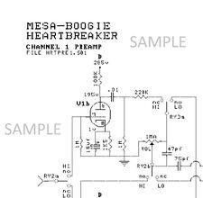 MESA BOOGIE HEARTBREAKER Tube Guitar Amplifier Circuit Diagram Schematic PDF