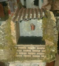 Fontana acqua con tetto 15x9 h12 presepe pastori  crib shepherds