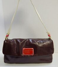 Marc by Marc Jacobs Burgundy Multi Crinkle Patent Leather Flap Shoulder Bag
