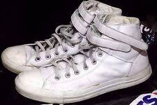 Converse Chucks UInisex  CT 2 Strap Hi 112478 White Leather Size UK 10 EU 44