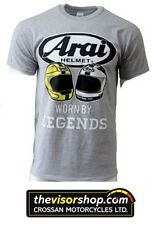Arai GILDAN Heavy Cotton T-SHIRT GREY -Joey & Robert Dunlop Legends - L Large