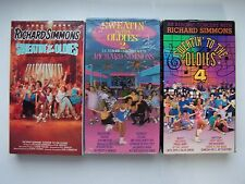 Richard Simmons Sweatin' To The Oldies Aerobic Exercise VHS 3 Tape Lot