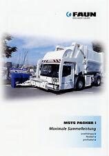 Prospekt Faun MSTS Packer I Müllfahrzeug Kommunalfahrzeug LKWs Müll brochure