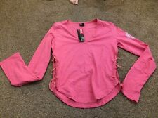 BNWT Diesel Pink Long Sleeve Top Size Small