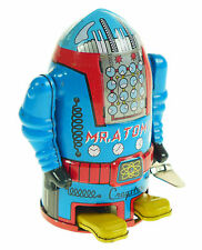 MR ATOMIC TIN TOY ROBOT WIND-UP CLOCKWORK CLASSIC TOY