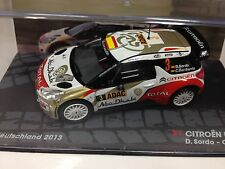 1/43 CITROEN DS3 WRC RALLYE DEUTSCHLAND 2013 SORDO IXO RALLY CAR COLLECTION