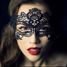 Black Cotton Lace Eye Mask Costume Party Fancy Dress Ladies Masquerade Ball Sexy
