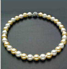 gorgeous 9-10mm Australian south sea  white gold  pearl necklace 18inch