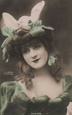 French Stage Actress Mlle Martha Vintage Photo Postcard