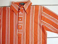 Vintage 70's 4 Button Orange Polo Collared Dress Shirt S