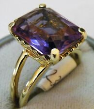 Gold 14K 585 Ring mit 8,5ct Amethyst  Gr 57