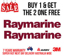 2 x RAYMARINE DECAL STICKER FOR BOATS / FISHING MARINE GRADE 290MM WIDE BURGUNDY