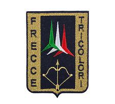 PATCH TOPPA FRECCE TRICOLORI MILITARE RICAMATA TERMOADESIVA cm 11 x 7,5