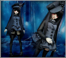 New Arrival 3(pcs) Cute vampire Small Black Grey Dress 1/3 BJD Clothes