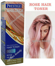 ROSE PEARL PINK HAIR TONER Blonde Bleached Grey NO AMMONIA & PEROXIDE Dye Colour