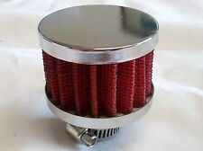 Filtre Reniflard Air / Huile entree 12mm CHROME ROUGE Tuning Racing NEUF