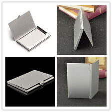 Men's Business Name Credit ID Holder Pocket Card Case Box Stainless Steel Box
