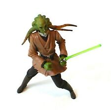 "STAR WARS KIT FISTO clone wars jedi 3.75"" action figure toy RARE"