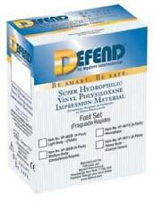 DEFEND HEAVY BODY VPS IMPRESSION MATERIAL FAST SET 4 X 50ML CARTRIDGES