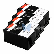 4 BLACK 920XL NEW GENERIC 920 HIGH YIELD 920XL w/Chip+INK LEVEL for HP Printer