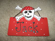 Wooden Plaque With Pirate Design