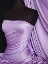 Lilac 4 way stretch shiny lycra fabric material
