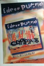 DEEP PURPLE ADVERT POSTER LIVE AT THE OLYMPIA 96 ORIGINAL NOT REPRINT VERY RARE