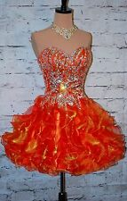Prom Spring Formal gown in Burnt Orange sz S (4) Pageant Evening Dress