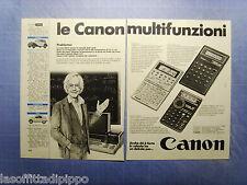 QUATTROR981-PUBBLICITA'/ADVERTISING-1981- CANON MULTIFUNZIONI -2 fogli
