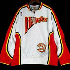 100% Authentic Mitchell Ness Atlanta Hawks Warm Up Shirt Jacket Sz 48 XL wilkins