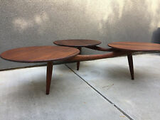 TRIPOD WOOD COFFEE TABLE CALIFORNIA DESIGN VINTAGE MID CENTURY MODERN EAMES