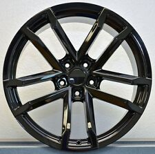 NEW! 20x10 20x11 Staggered Gloss Black ZL1 Fits 2010-Up Camaro Wheels Rims Set